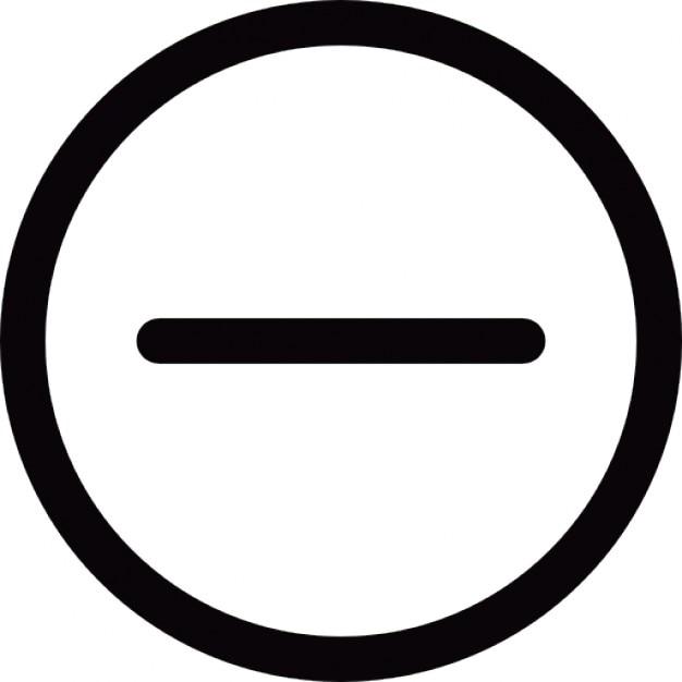 Kreisförmige Schaltfläche mit Minuszeichen Kostenlose Icons