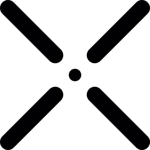 kreuz symbol mit einem kleinen punkt in der mitte. Black Bedroom Furniture Sets. Home Design Ideas