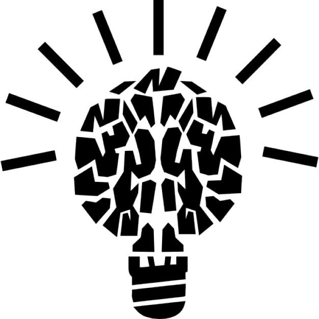 Licht Gehirn Bildungs Symbol | Download der kostenlosen Icons