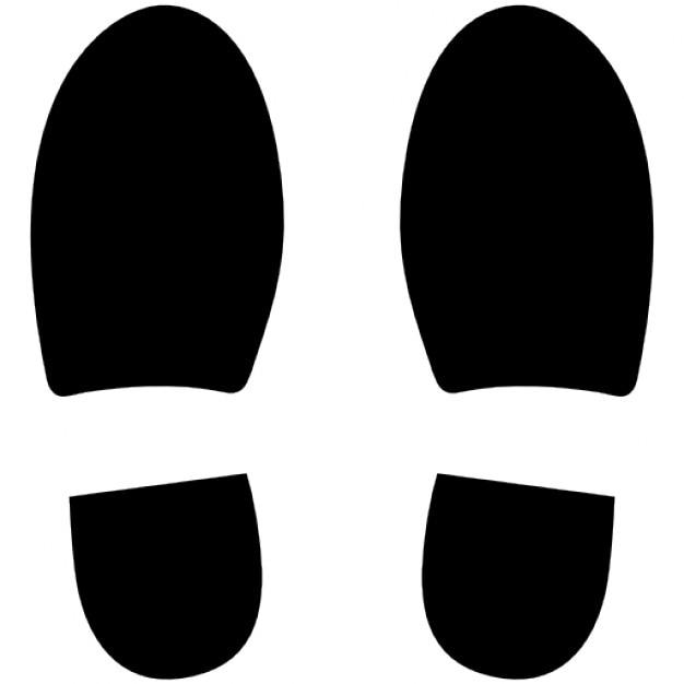 Linken und rechten schuh fußabdrücke Kostenlose Icons