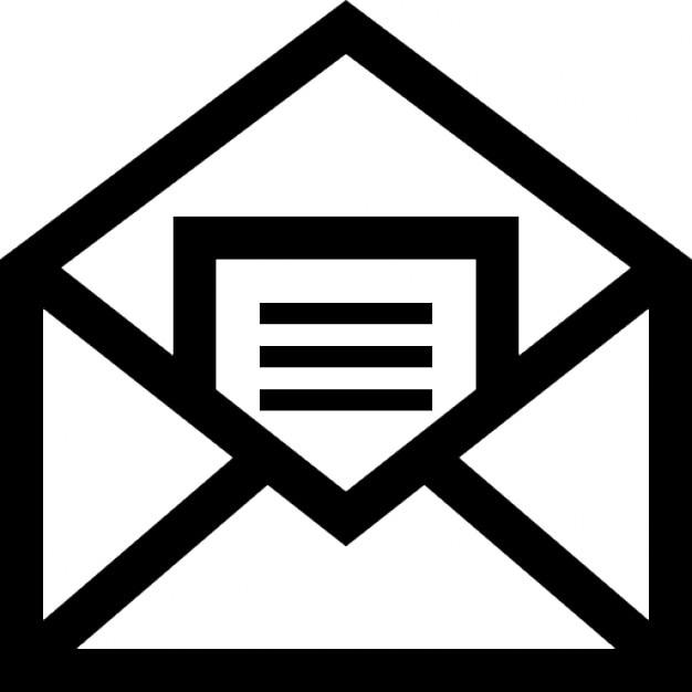 mail symbol eines offenen umschlag mit einem brief im inneren download der kostenlosen icons. Black Bedroom Furniture Sets. Home Design Ideas