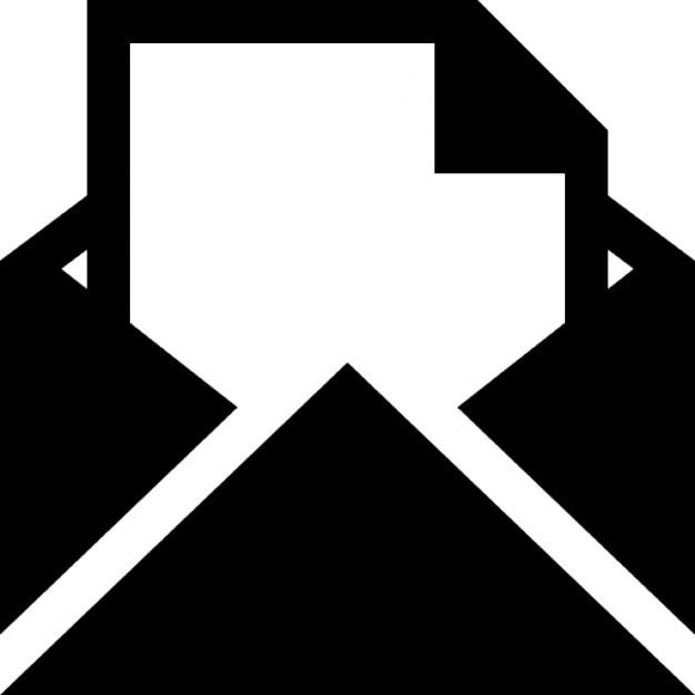 Mail Umschlag Mit Einem Brief Papier Download Der Kostenlosen Icons