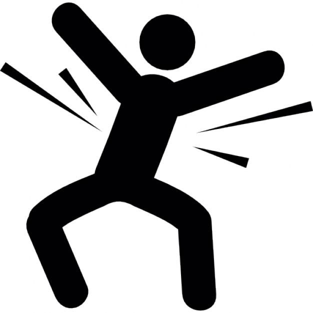 Mann mit Körper in Bewegung | Download der kostenlosen Icons
