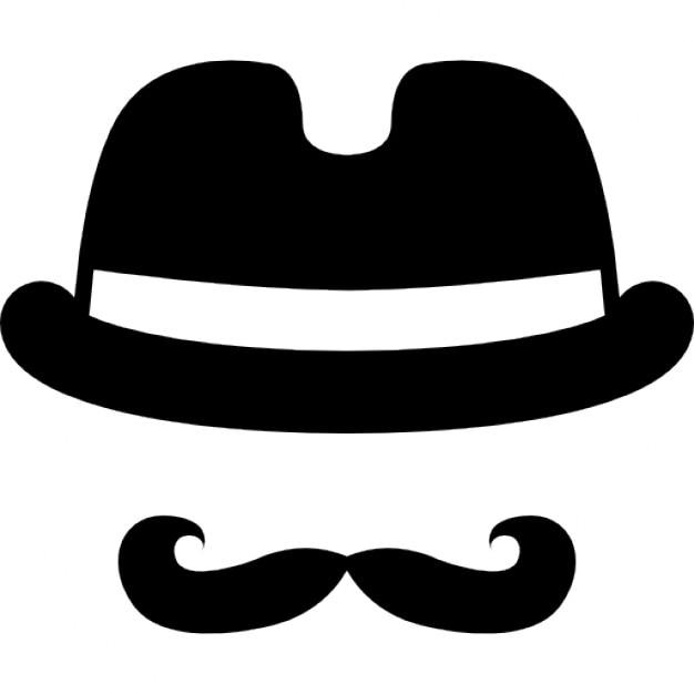 Männlich Hut und Schnurrbart | Download der kostenlosen Icons