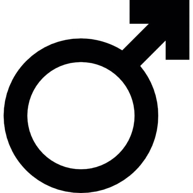 Männliches Zeichen