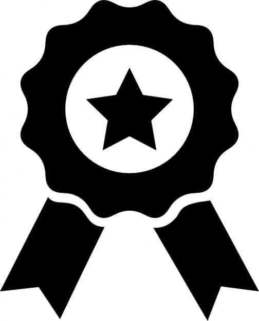 Medaille mit stern und band Kostenlose Icons