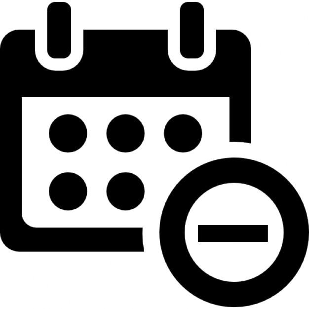 Minus Kalenderschnitt Symbol   Download der kostenlosen Icons