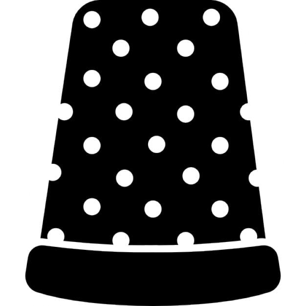 Nähen Fingerhut schwarze Variante   Download der kostenlosen Icons