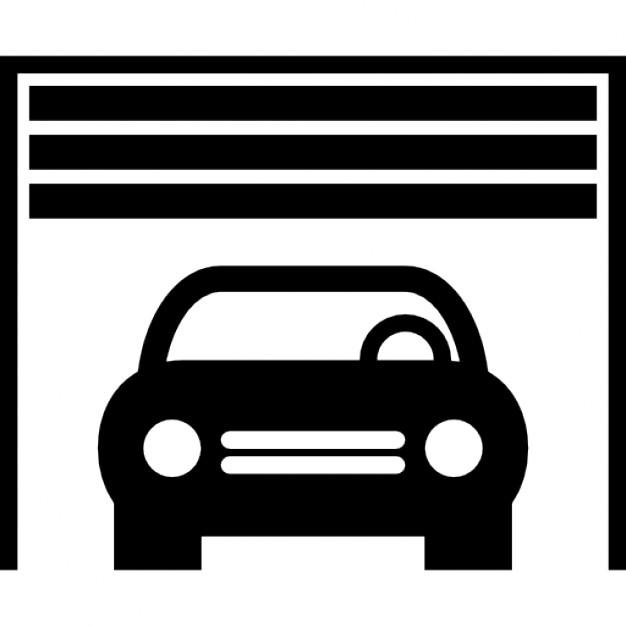 Parkplätze in einer garage download der kostenlosen icons