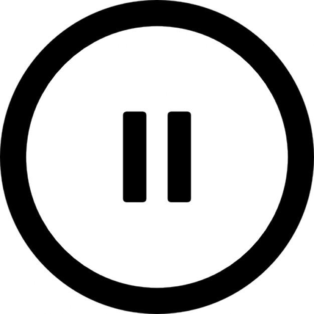Pause kreis Kostenlose Icons
