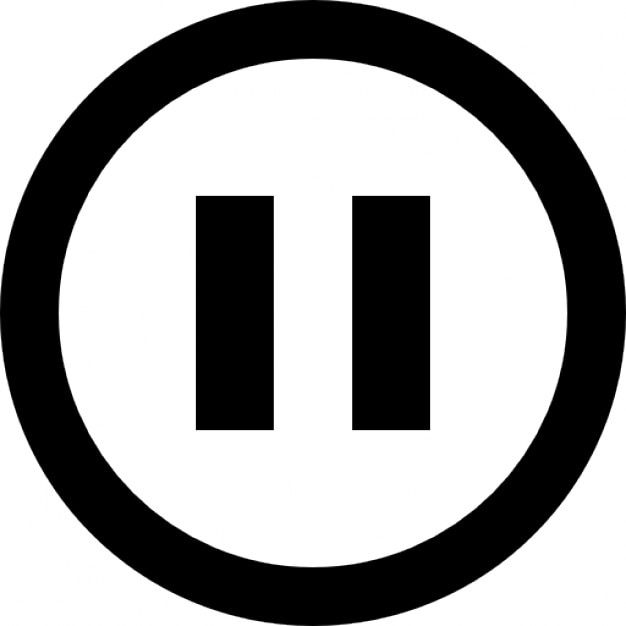 Pause-Taste Umriss Kostenlose Icons