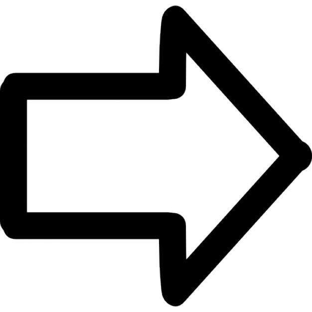 Pfeil nach rechts gezogen Symbol Kostenlose Icons