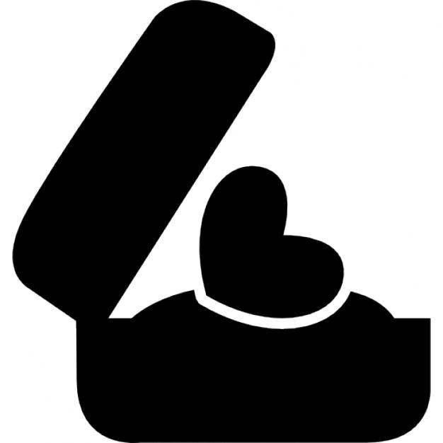 romantisches geschenk einer herz ring in einer schachtel download der kostenlosen icons. Black Bedroom Furniture Sets. Home Design Ideas