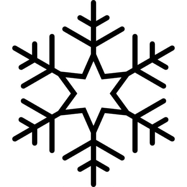 Schneeflocke Mit Sechs Punkten Stern In Der Mitte Der Linien Muster
