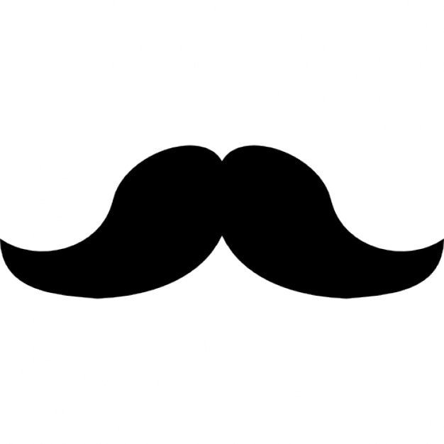 Berühmt Schnurrbart Ausgeschnittene Vorlage Zeitgenössisch ...