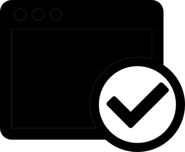 Schwarzes fenster Kostenlose Icons