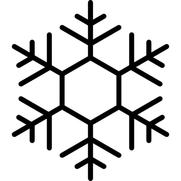 sechseckigen schneeflockendesign  download der