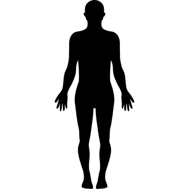 Stehen menschlichen Körpers Silhouette | Download der kostenlosen Icons