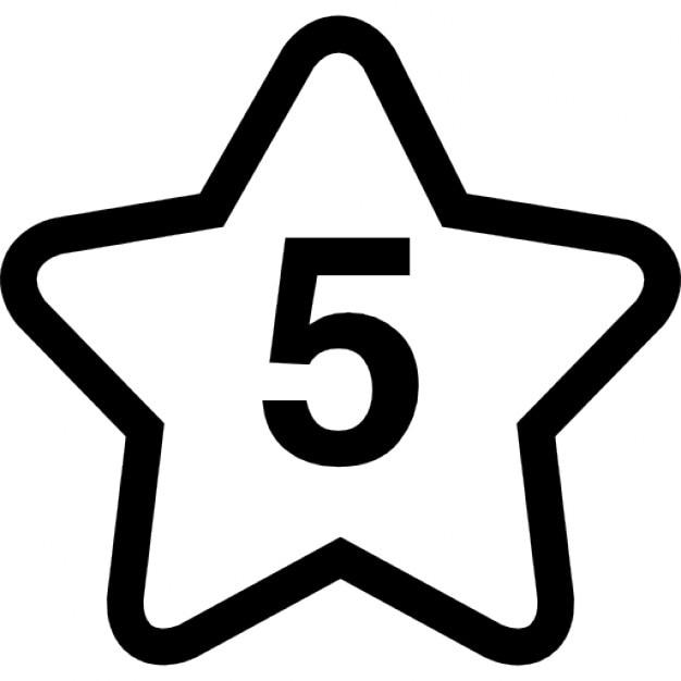 Stern Nummer fünf   Download der kostenlosen Icons