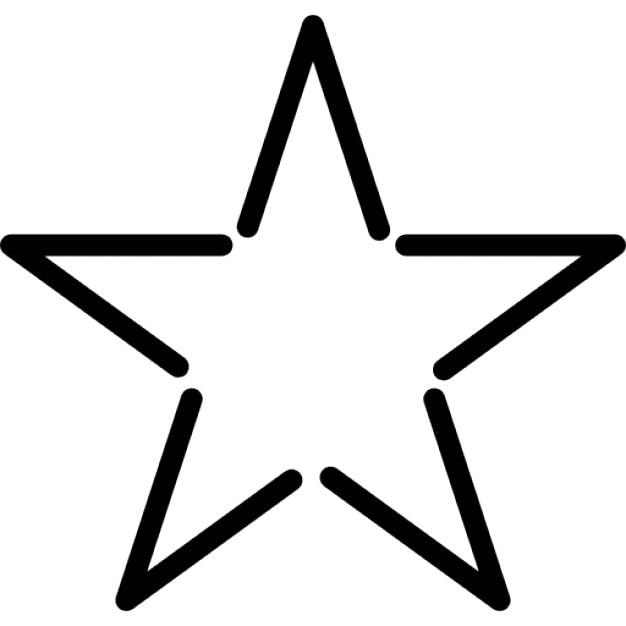 sterne fivepointed form umriss in weiß  download der