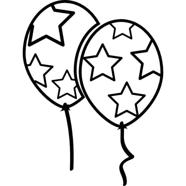Sterne Luftballons Download Der Kostenlosen Icons