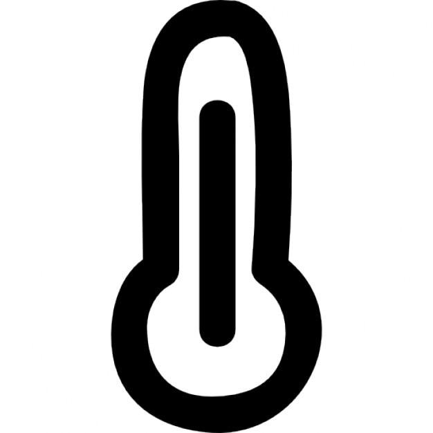 Thermometer mit hohen Temperaturen Kostenlose Icons