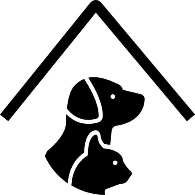 tierhotel schild mit einem hund und einer katze unter. Black Bedroom Furniture Sets. Home Design Ideas
