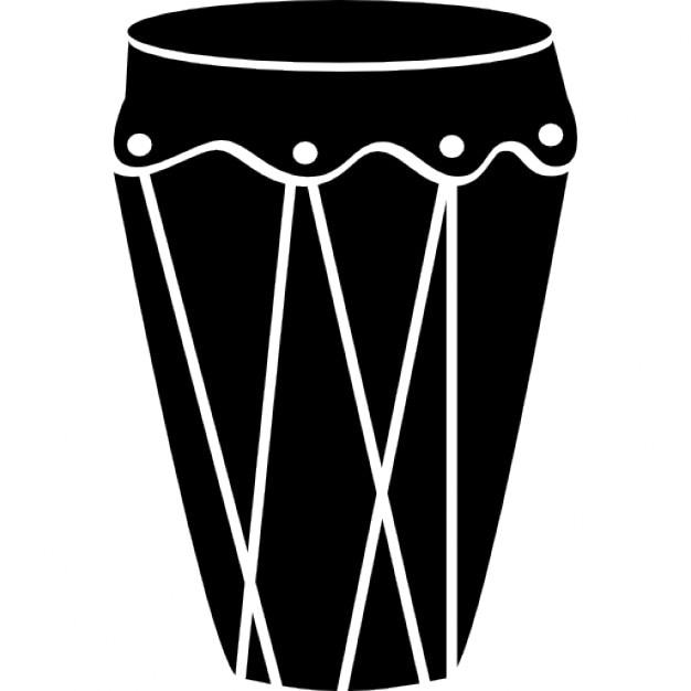 Trommel groß und schwarze Form | Download der kostenlosen Icons