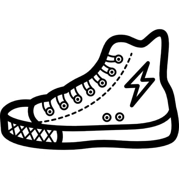 Lip Stick Shoes Black And White Cartoon