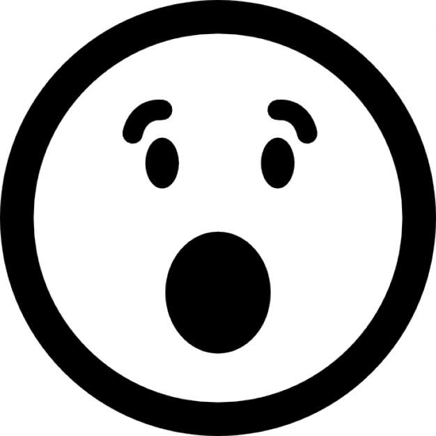 Berrascht emoticon quadratisches gesicht mit offenen for Meine wohnung click design download