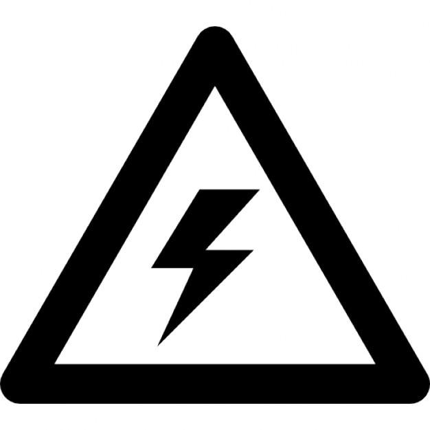 Warnspannung Zeichen einer Schraube in einem Dreieck   Download der ...