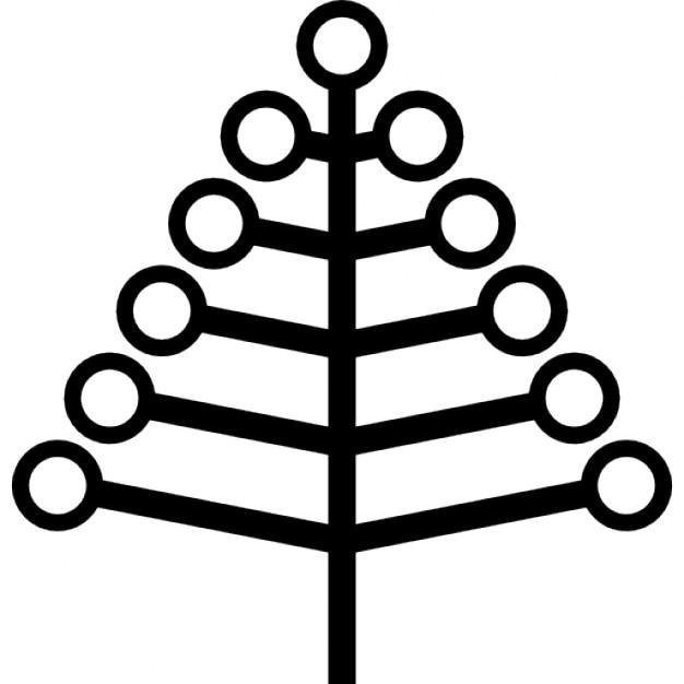 weihnachtsbaum form von niederlassungen mit kugeln download der kostenlosen icons. Black Bedroom Furniture Sets. Home Design Ideas