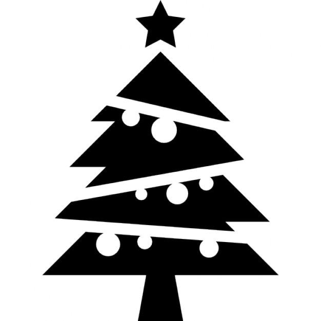 weihnachtsbaum mit kugeln und einem stern auf der spitze download der kostenlosen icons. Black Bedroom Furniture Sets. Home Design Ideas
