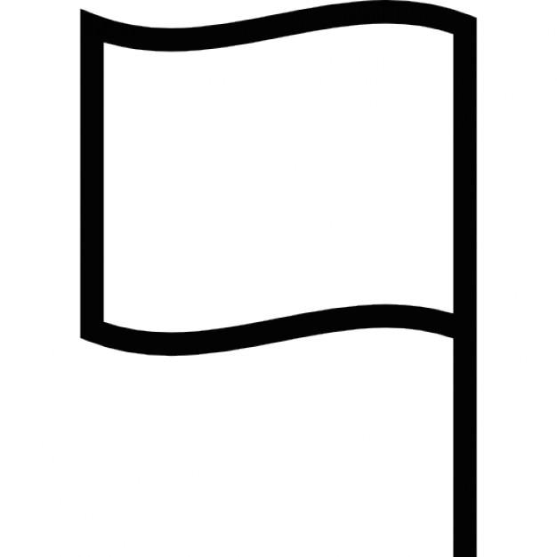 Weiße Fahne Clipart