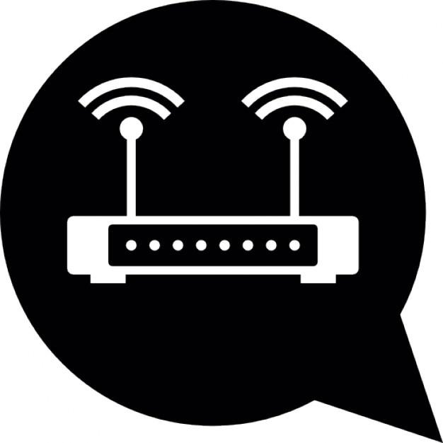 WLAN-Router mit Doppelsignal | Download der kostenlosen Icons