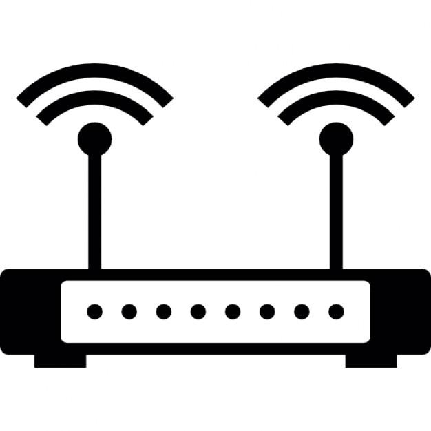 WLAN Router mit Signal | Download der kostenlosen Icons