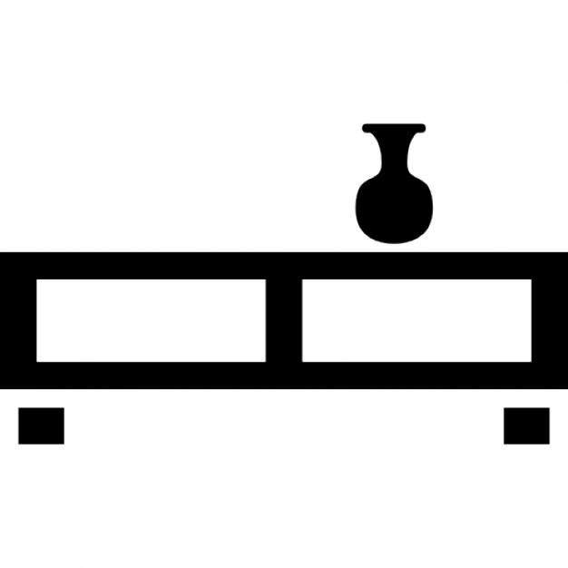 wohnzimmer tisch mit einem kleinen glas download der kostenlosen icons. Black Bedroom Furniture Sets. Home Design Ideas