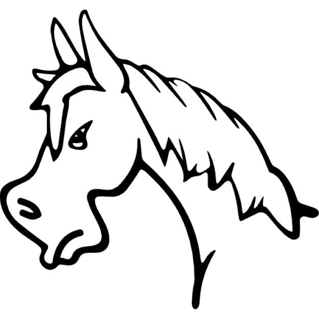 Horse Face Line Drawing : Wütend pferd gesicht seitenansicht kontur download der