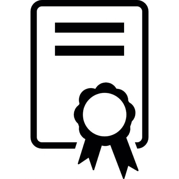 Zertifikat, ios 7-Schnittstelle Symbol   Download der kostenlosen Icons