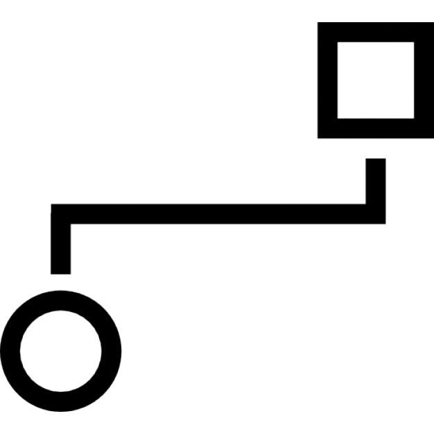 Zwei geometrischen Formen Grafik Umriss | Download der kostenlosen Icons