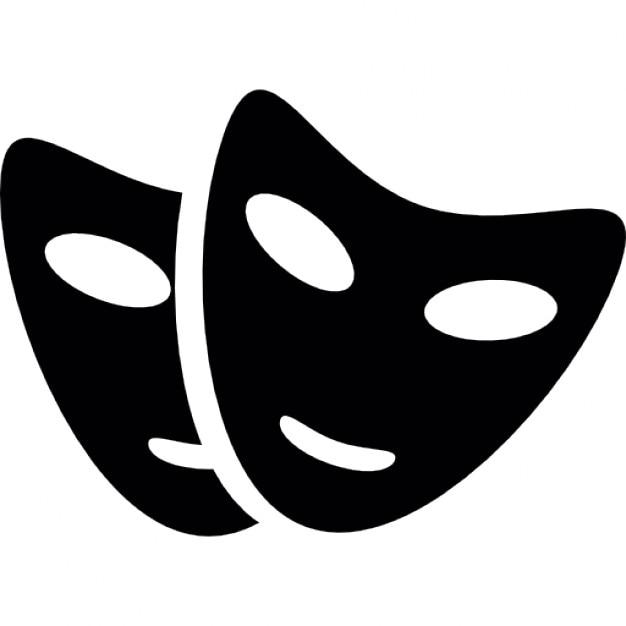 Zwei Masken für die Partei | Download der kostenlosen Icons