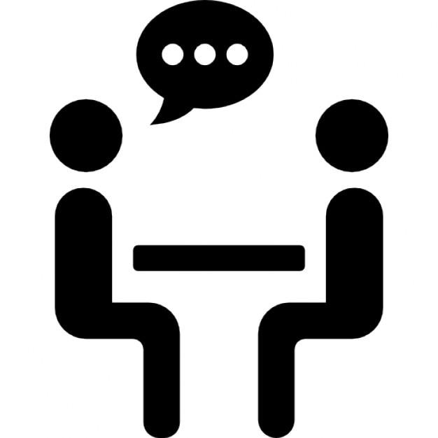 zwei personen sprechen sharing sitzt auf einem tisch. Black Bedroom Furniture Sets. Home Design Ideas