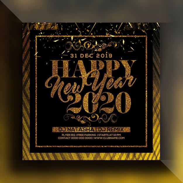 2020 neues jahr party flyer Premium PSD