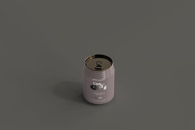 250ml stubby soda can mockup Kostenlosen PSD