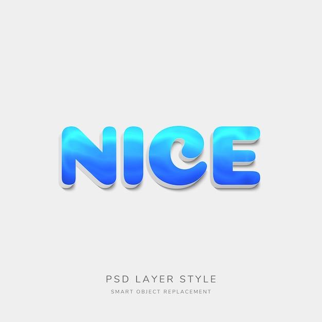 3d blue text style-effekt Premium PSD