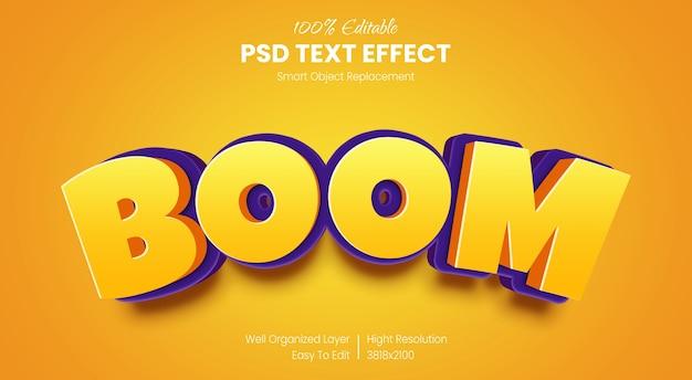 3d boom text style effekt vorlage Premium PSD
