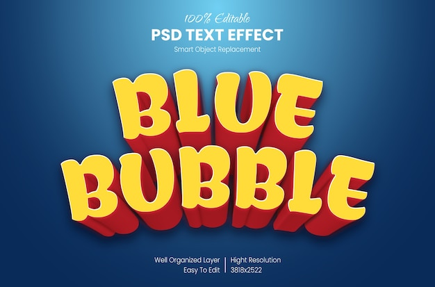3d-cartoon-texteffekt Premium PSD