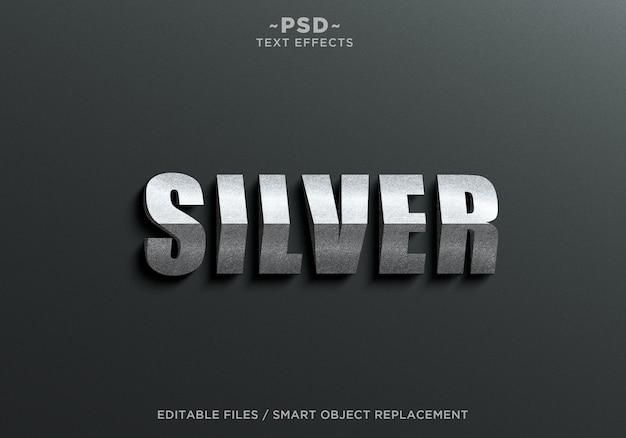 3d-dreieck silber effekte textvorlage Premium PSD