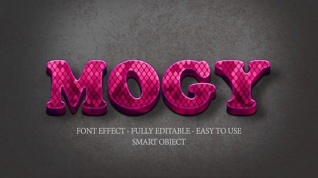 3d effect font purple snake hauttextur Premium PSD