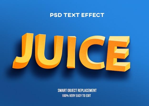 3d gelbe twist-texteffektschablone Premium PSD